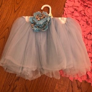 Light blue flower tutu